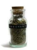 Glass Spice Jar of Rosemary Royalty Free Stock Photos