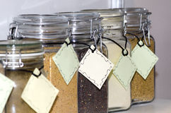 Glass Spice Jars Royalty Free Stock Image