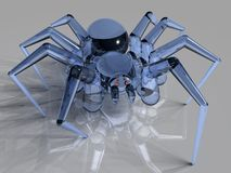 Glass Spider. Near-photorealistic raytraced image of  a glass-spider Stock Photography