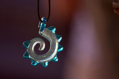 Glass spiral pendant Stock Images