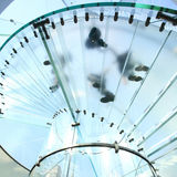Glass spiral staircase Stock Photos