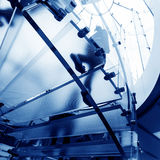 Glass spiral staircase Stock Photo