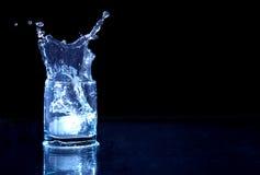 Glass Of Splashing Water Stock Image