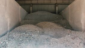 Glass and splitters garbage trash for recycle at the dump. Old glass for renewal recycling earth ecology sorting stock video footage