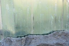 Glass springbrunn Fotografering för Bildbyråer
