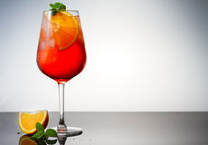 Glass of spritz Stock Images