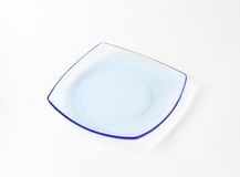 Glass square plate Stock Photos