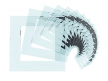 Glass squares spiral. 3D light blue glass squares spiral abstract backdrop Stock Photography