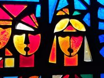 4 glass stained window Arkivfoton