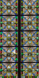 4 glass stained window Arkivfoto