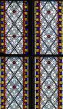 4 glass stained window Royaltyfria Bilder