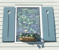 4 glass stained window 免版税库存图片