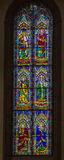 4 glass stained window Royaltyfri Foto