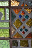 4 glass stained window Royaltyfri Bild