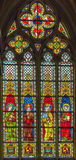 4 glass stained window Royaltyfria Foton