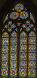 4 glass stained window Royaltyfria Bilder