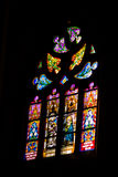 4 glass stained window Royaltyfri Fotografi