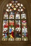 4 glass stained window Royaltyfri Foto