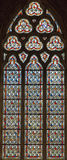 4 glass stained window Arkivbilder