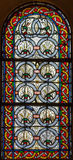 4 glass stained window Arkivbild