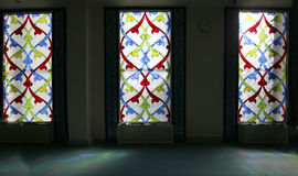 4 glass stained window Moskvadomkyrkamoské (inre), Ryssland Arkivfoton
