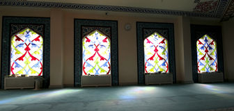 4 glass stained window Moskvadomkyrkamoské (inre), Ryssland Royaltyfria Foton