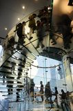 Glass stair in Apple store Royalty Free Stock Photography