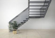 Glass staircase Stock Image