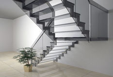 Glass staircase Royalty Free Stock Photos