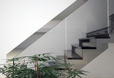 Glass staircase Royalty Free Stock Images