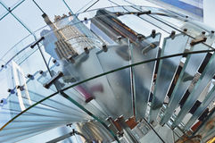 Glass staircase. Royalty Free Stock Photos