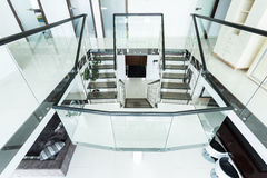 Glass staircase Stock Images