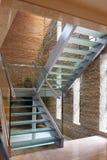 Glass stairway. View of glass stairway,China Stock Image