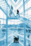 Glass stairway Stock Image