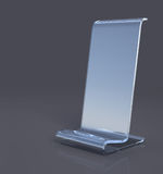 Glass stand 3d model Stock Photos