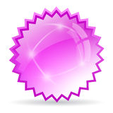 Glass star icon Royalty Free Stock Images