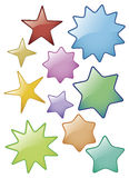 Glass Star Icons Stock Images