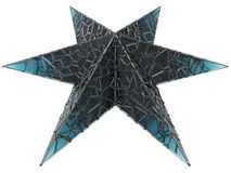 Glass starfish Stock Images