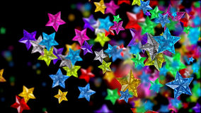 Glass stars looks as brilliants, rubies, sapphires Royalty Free Stock Photo
