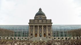 Glass State Chancellery near Hofgarten in Munich, Germany, famous landmarks. Stock footage royalty free stock photo