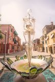 Glass statueof woman on Murano or Burano island. In Venice, Italy Stock Images