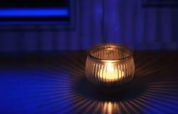 Glass stearinljushållare royaltyfria foton