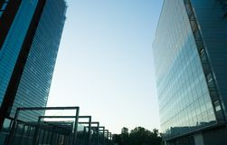 Glass and Steel. Modern architecture, glass and steel Stock Image