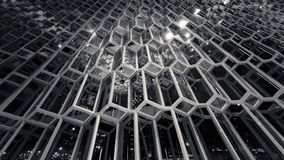 Glass and steel. A glass and steel facade Stock Photo