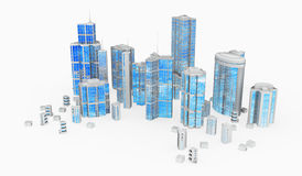 Glass and Steel, Building Group royalty free illustration