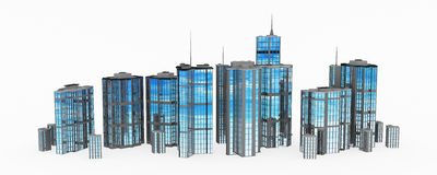 Glass and Steel, Building Line royalty free illustration