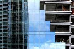 Glass and Steel Building structures Stock Images