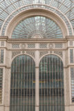 Glass and Steel canopy structure in the West End of London Stock Images