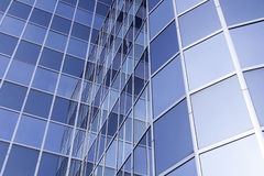 Glass and steel facade of modern office building Stock Photos