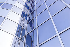 Glass and steel facade of modern office building Royalty Free Stock Photos